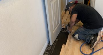 Solid Wood Floor Installation for Office Space – Wylie, TX photo