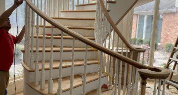 Hardwood Oak Floor and Stairs Installation – Waco, TX photo